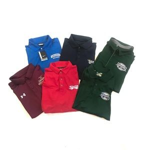 Lot of 6 Golf Polo Shirts Beer Logos Mens XL